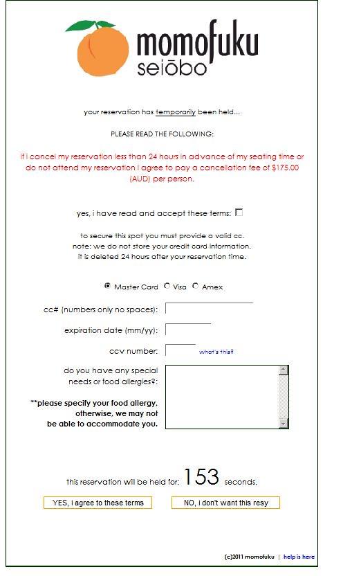 momofuku seibo reservation details