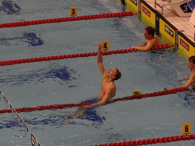 Kawecki after his 2011 Szczecin 200 backstroke win