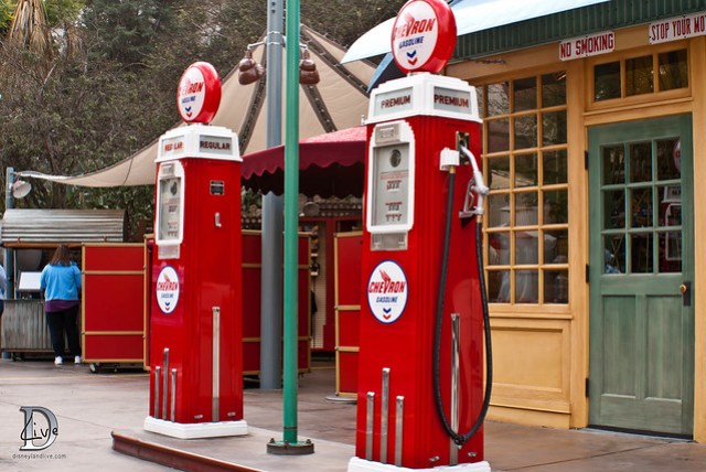 New Chevron Gas Pumps, Condor Flats at Disney California Adventure
