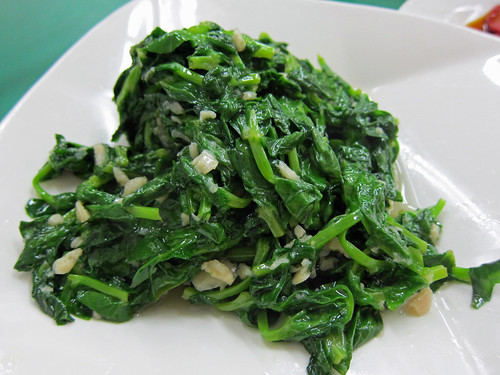 Garlic Fried Pea Shoots