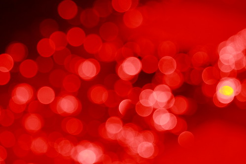Red Filter Bokeh Sparkle