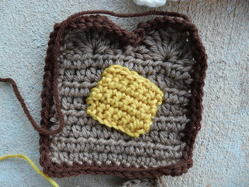 Detail of whole wheat toast with butter by crochetbug13