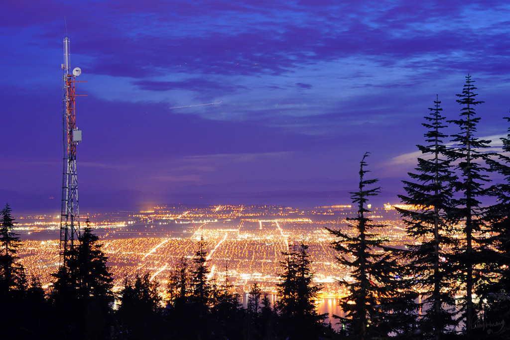 Lights.Vancouver from Grouse Mountain