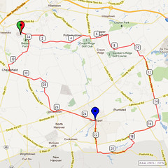 06. Bike Route Map. Hamilton Area YMCA, Crosswicks, NJ