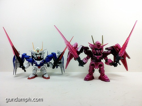 SD Gundam Online Capsule Fighter Trans Am 00 Raiser Rare Color Version Toy Figure Unboxing Review (37)