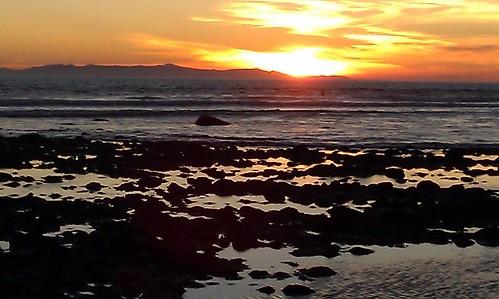 Low tide sunset 11-26-11