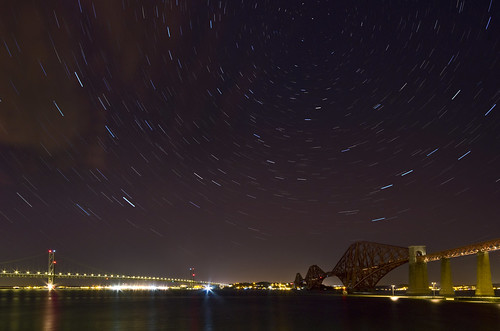 Forth Bridges Pano Star Trails