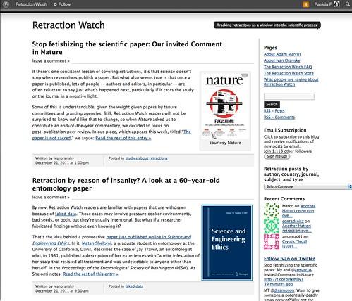Retraction Watch & Plagiarism