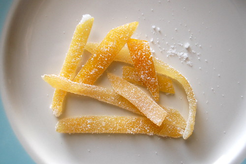 Candied lemon peel.