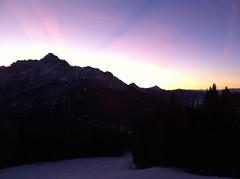 Sonnenuntergang vom Helm aus