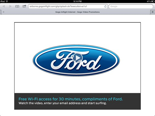 CES Gogo inflight free wifi by Ford