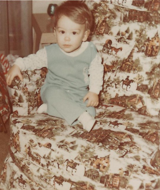 Little kid in a chair, 1971