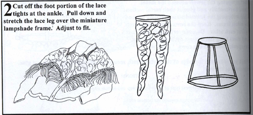 Lace leg lampshade instructions