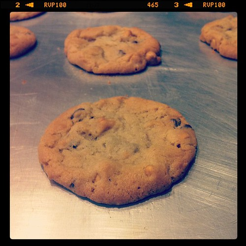 Butterscotch & Mini Chocolate chip cookies.  #baking #cookies #yum