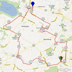 06. Bike Route Map. Somerset Valley YMCA, Hillsborough, NJ
