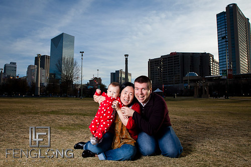 Family Photo time in Centennial Olympic Park