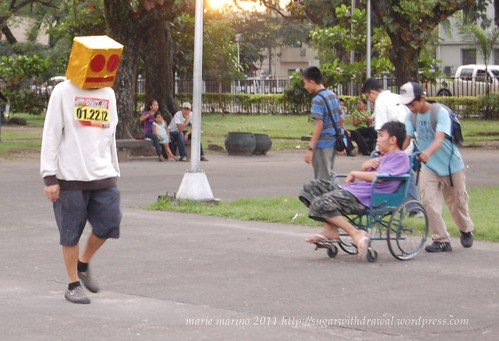 Run for Unity man with boxhead