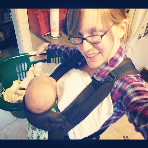 Laundry-doing, baby-wearing badass :)  :: Positivity Project Day 13