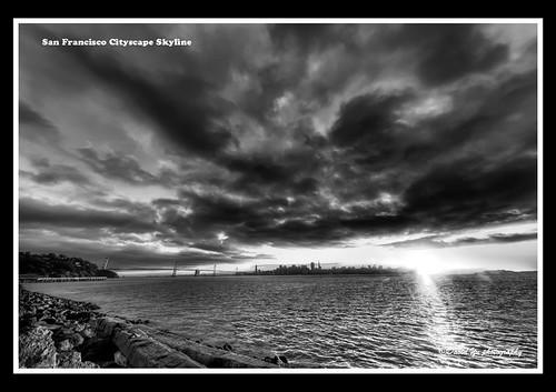 San Francisco Cityscape Skyline by davidyuweb