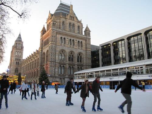 pattinare su ghiaccio a Londra