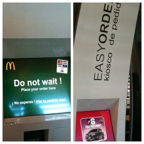 Kiosko de pedidos en McDonalds... Im-presionante by rutroncal