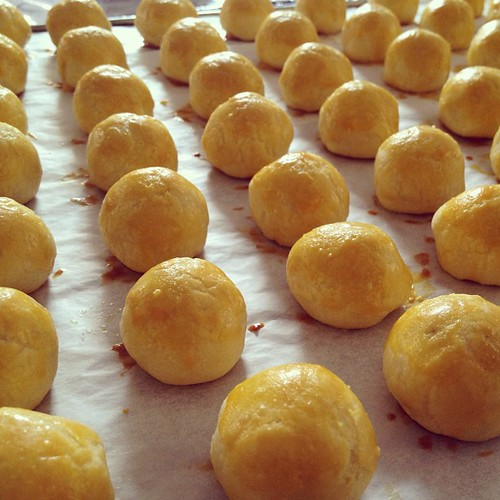 First batch of pineapple tarts fresh from the oven!