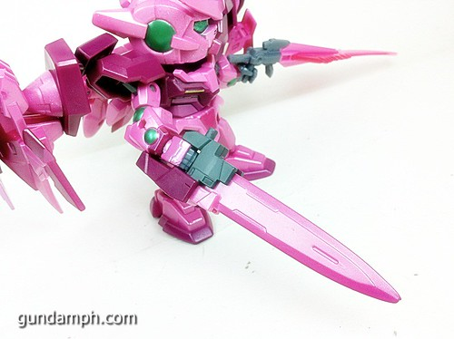 SD Gundam Online Capsule Fighter Trans Am 00 Raiser Rare Color Version Toy Figure Unboxing Review (43)