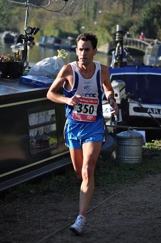 Martín durante la Grand Union Canal Half Marathon
