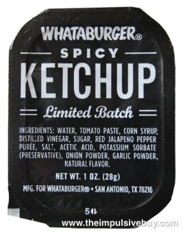 Whataburger Limited Batch Spicy Ketchup