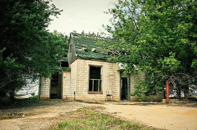 """""""Alone Time""""; abandoned filling station, Route 66 USA. Photo copyright Jen Baker/Liberty Images (pinning is okay)."""