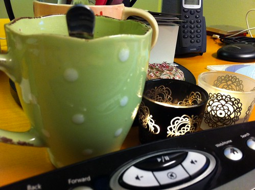 Morning tea at the office