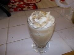 Blender coffee ice cream