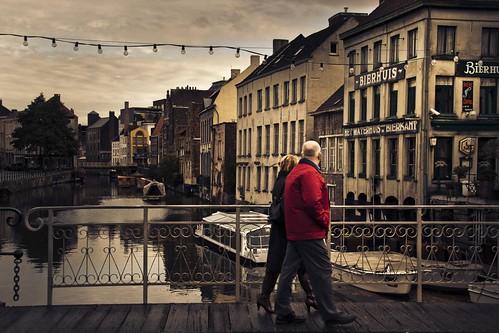 Promenade Along the water (Gand) - Photo : Gilderic