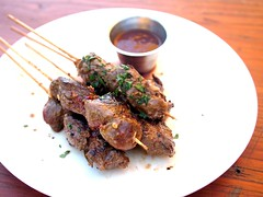 Kangaroo skewers, Little Creatures, Fremantle