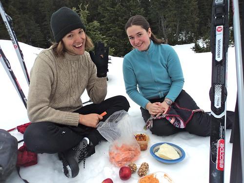 Pique-nique à la neige avec S-Blade et Pois Chiche.
