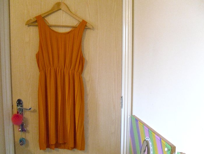 Monki orange dress
