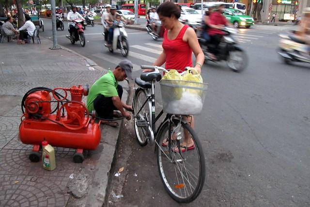 Convenient Bike Service Station
