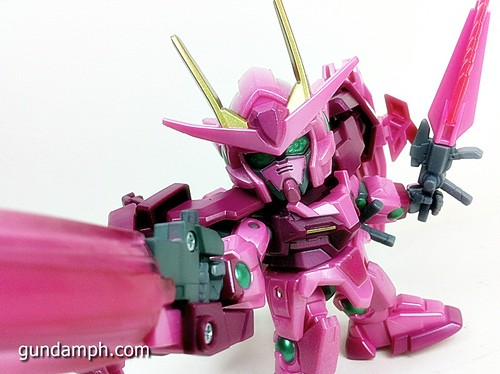 SD Gundam Online Capsule Fighter Trans Am 00 Raiser Rare Color Version Toy Figure Unboxing Review (60)