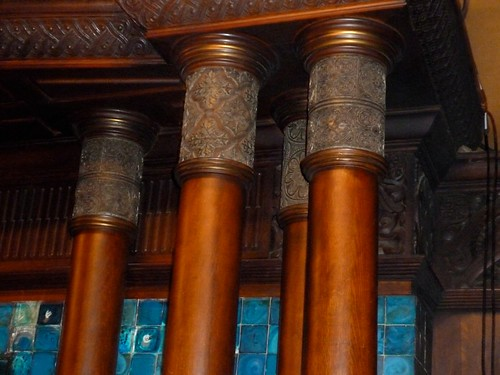 Veterans Room Fireplace Mantle Detail