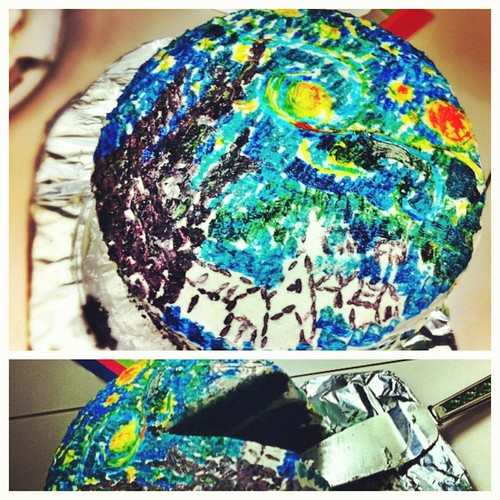 133: someone had a birthday at work, and the baking challenge was Starry Night.