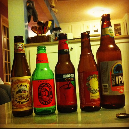 Our selections for the night.