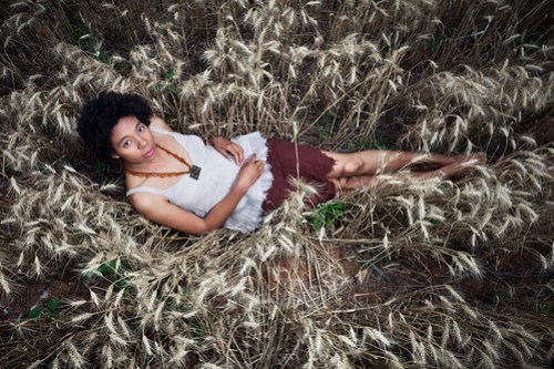 Amirah in the field