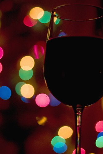 Wine By Christmas Light