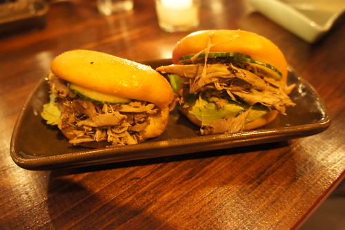 Duck Bun with Chinese Celery and Cucumber