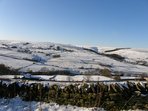Looking back across the valley