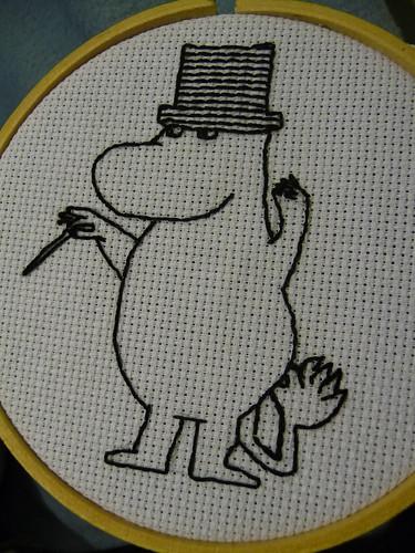Moominpappa embroidery