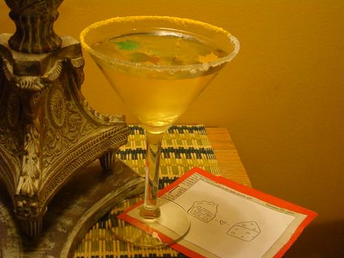 Cheddar Apple Pie Martini