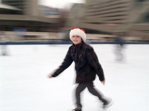 Skating at Nathan Phillips Square