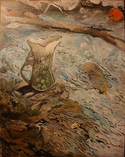 Ripples underpainting by Sage Austin