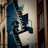 De la BD à la réalité : Tintin et l'escalier de secours